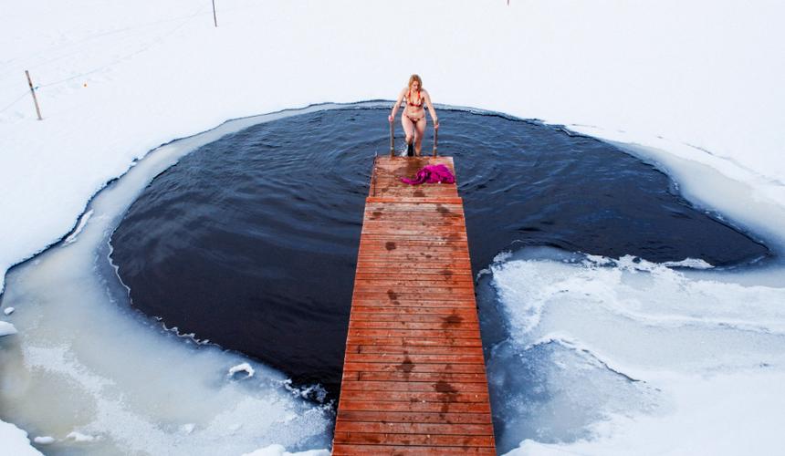 Extreme Finnish experience: Sauna, ice swimming and nature walk ...